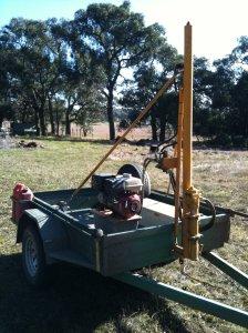 Soil sampling machine